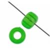 Crowbeads 9mm Transparent fluorescent Green